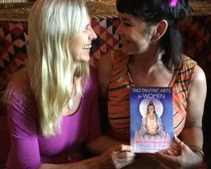 Minke de Vos sharing new book Tao Tantric Arts for Women with Mahara Brenna crp 759x608