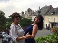 Mahara Brenna at Chateau de Brissac with MC Judy Gee